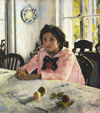 Девочка с персиками (В.А. Серов)