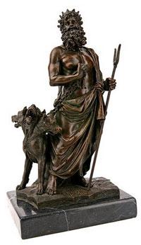 Аид и цербер (бронзовая статуэтка)
