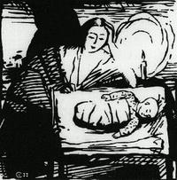 Со свечой (С.Г. Чернышев, 1988 г.)