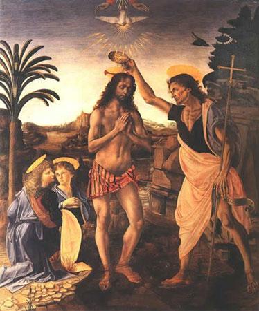 Крещение Христа (Леонардо да Винчи)