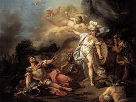 Битва Марса и Минервы (Ж.Л. Давид, 1771 г.)