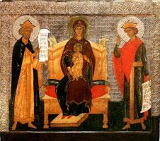 Богоматерь на престоле с Давидом и Соломоном