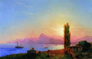 Закат на море (И.К. Айвазовский)