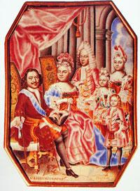 Петр I с супругой и детьми (Г.С. Мусикийский)