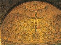 Великолепная мозаика XII века в апсиде церкви Сан-Клементе