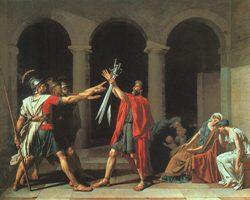 Старинная картина эпохи классицизма