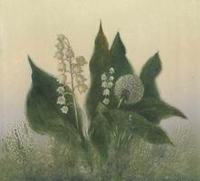 Ландыши и одуванчик (В.М. Сыров)