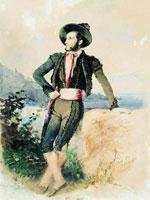 Айвазовский в итальянском костюме (1842 г.)