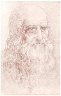 Автопортрет Леонардо да Винчи. Турин.