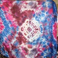 Разноцветный шарфик (Узелковый батик)